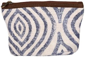 White Color Zip Pouch, Cosmetic Pouches, Women Pouch Handbag By Rajrang