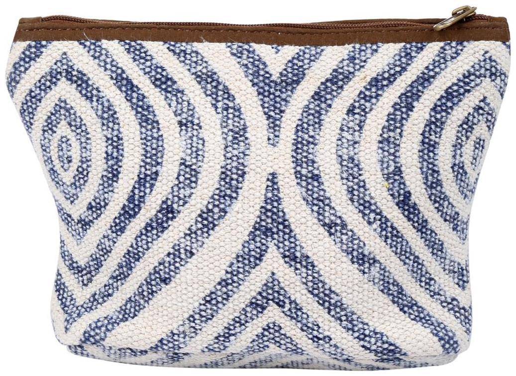 White Color Zip Pouch, Cosmetic Pouches, Women Pouch Handbag By Rajrang by Raj Rang