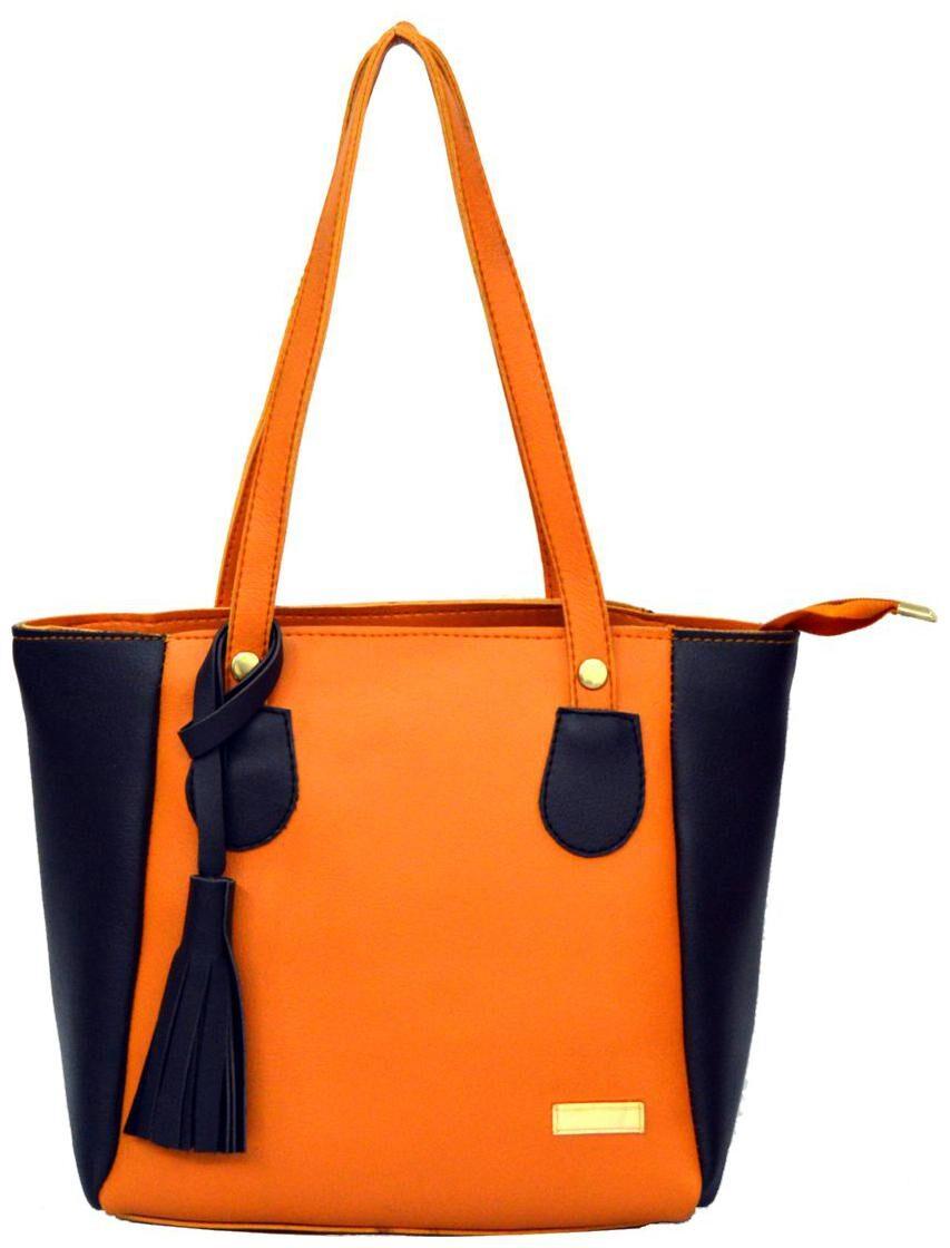 AGINOS Beige PU Handheld Bag