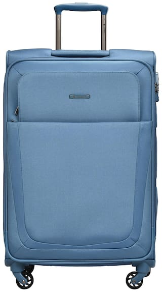 Sonnet Cabin Size Soft Luggage Bag - Blue , 4 Wheels