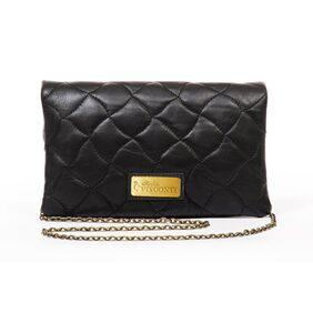 Sophia Visconti Women Leather Sling Bag - Black