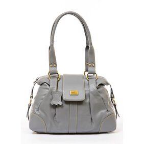 Sophia Visconti Women Leather Handheld Bag - Silver