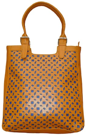 Spice Art Beige Faux Leather Handheld Bag