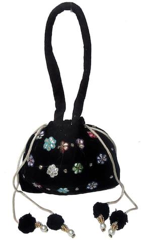 Spice Art Leather Women Handheld bag - Black