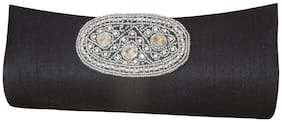 Spice Art Women Solid Canvas - Clutch Black