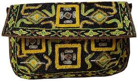 Spice Art Women Solid Wool - Clutch Black