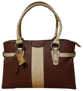 Spice Art Women Leather Handheld Bag - Brown