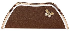Spice Art Women Solid Synthetic - Clutch Brown
