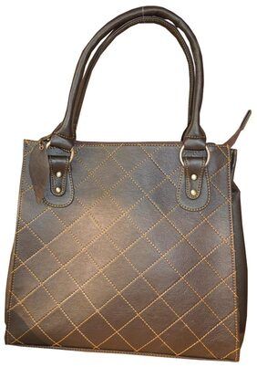 Spice Art Women Faux Leather Handheld Bag - Brown