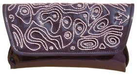 Spice Art Women Solid Faux Leather - Clutch Purple