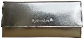 Spice Art Women Faux leather Wallet - Silver