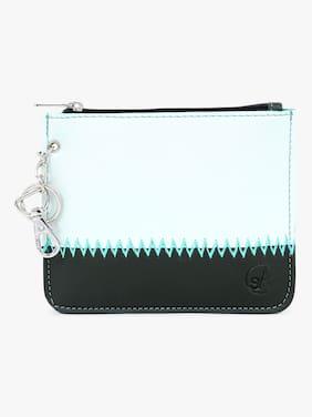 Spice Art Women Green & Blue PU Wallet