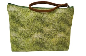 Spice Art Women Canvas Vanity Case - Green
