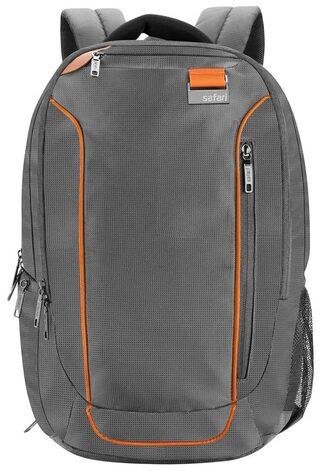 Safari Sprint Grey Laptop Backpack (18 Months International Warranty)