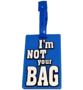 Stealodeal Blue I Am Not Your Bag Travel Luggage Tag