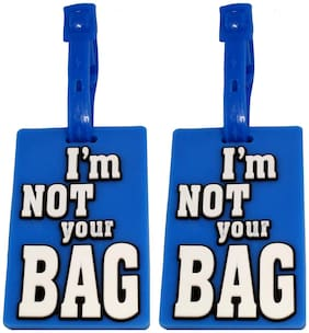 Stealodeal |Pack of 2|Blue I Am Not Your Bag Travel Luggage Tag