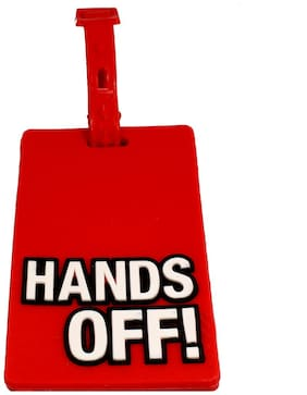 Stealodeal Red Hands Off Travel Bag Luggage Tag
