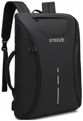 STEEZE 30 ltr Black Polyester Laptop backpack