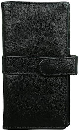 STYLE 98 Women Black Leather Wallet