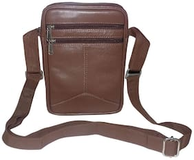 Style 98 Brown Premium Quality Leather Unisex Messenger Bag