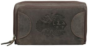 STYLE 98 Women Brown Leather Wallet