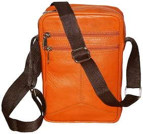 STYLE 98 Tan Leather Sling bag