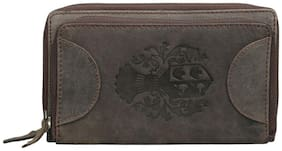 Style 98 Khaki Premium Quality Leather  Wallet For Women Girls Wallet