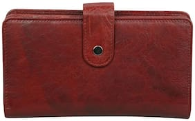 Style 98 Maroon Premium Quality Leather  Wallet For Women Girls Wallet