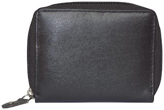 STYLE SHOES 98 Women Black Leather Wallet