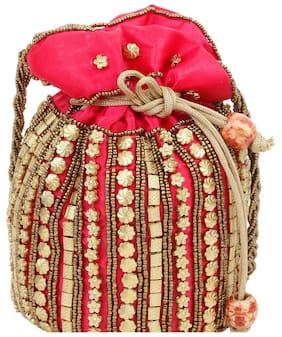 Style Villaz Women Pink Potli Bag