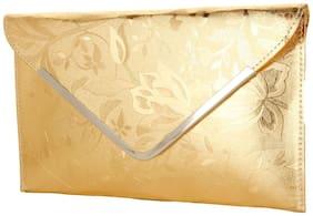 Style Villaz Women Gold Hand Bag