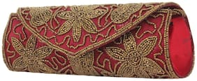 Style Villaz Maroon Party Clutch