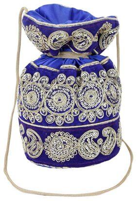 Style Villaz Blue Potli Bag