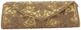 Style Villaz Gold Clutch