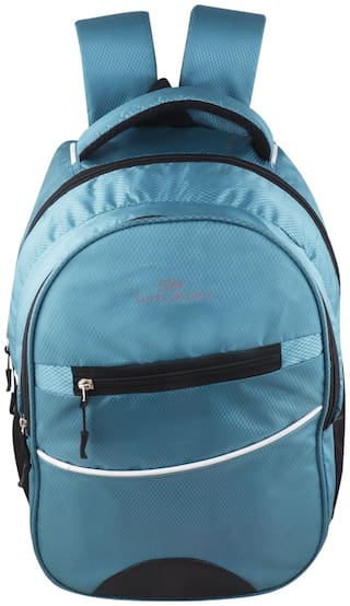 SUPER WORLD Blue Waterproof Polyester Backpack