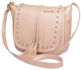 AL NOONE STAR Women Solid Pu - Sling Bag Beige