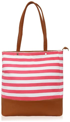 Kleio Women Solid Canvas - Tote Bag Pink