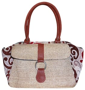 Stylogy Silk Women Handheld Bag - Beige