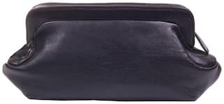 Stylogy Women Solid Leather - Clutch Black