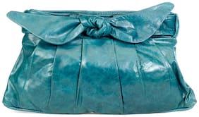 Stylogy Women Solid Leather - Clutch Green