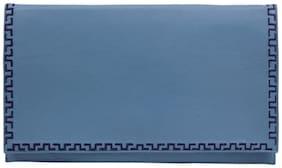 Stylogy Women Solid Leather - Clutch Blue