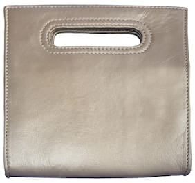 Stylogy Women Solid Leather - Clutch Brown