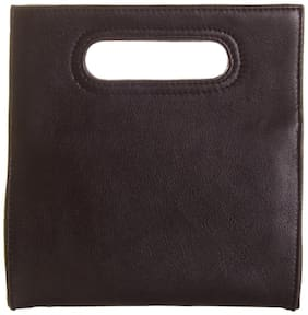Stylogy Women Solid Leather - Clutch Black