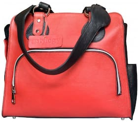 Stylogy Women Solid Leather - Tote Bag Red