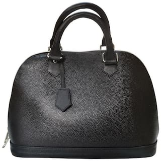 Stylogy Women Solid Leather - Tote Bag Black
