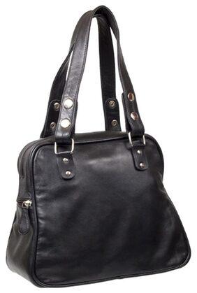 Stylogy Women Leather Handheld Bag - Black