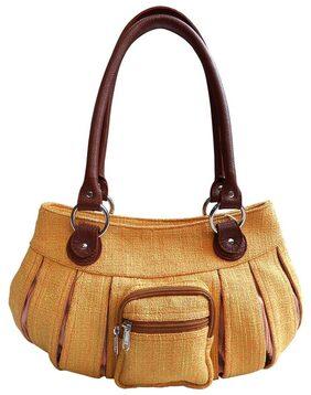 Stylogy Women Silk Handheld Bag - Yellow
