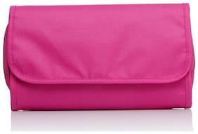 SWADEC-Foldable Wall Hanging Storage Bag Traveling Bag Toiletry Bags PINK