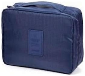 SWADEC Men Polyester Travel Pouch -Navy Blue