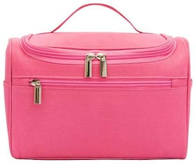 Swadec Women Travel Makeup Bag Multifunction Cosmetic Bags Polyester Fashion Waterproof Storage Toiletry Bag Organizer (Rose Red)